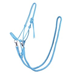 QHP halter with reins Sky