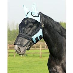 QHP Vliegenkap met afneembare neusflap Lichtblauw