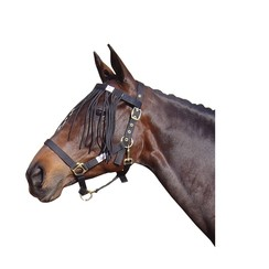 Harry's Horse Vliegenfrontriem Zwart