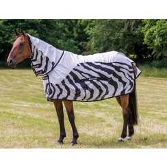 Bucas Buzz Off Rain Fliegendecke Zebra Full Neck