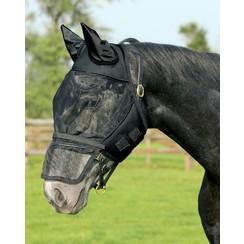 QHP Vliegenkap with removable nose flap Black