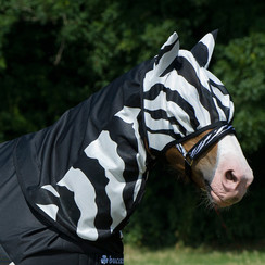Bucas Buzz-Off Rain Zebra halsdeel
