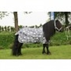HB Outdoordeken Pony 200 grams grey star