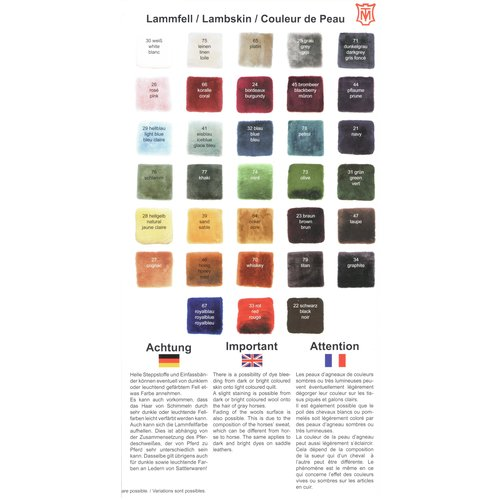 Letty's Design Letty's Design Lammfell Geschirrunterlage für Einspännergurt,  Pony