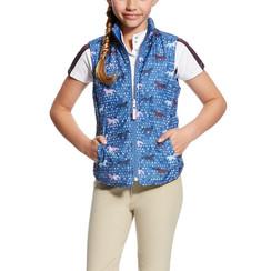 Ariat Emma reversible vest blue saga trot print