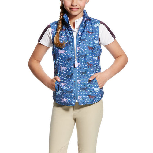 Ariat Ariat Emma reversible vest blue saga trot print