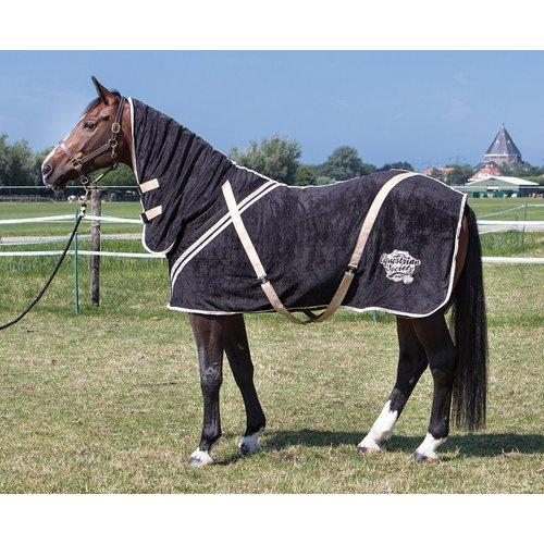 Harry's Horse Harry's Horse Fleecedeken met hals Stretch Limo