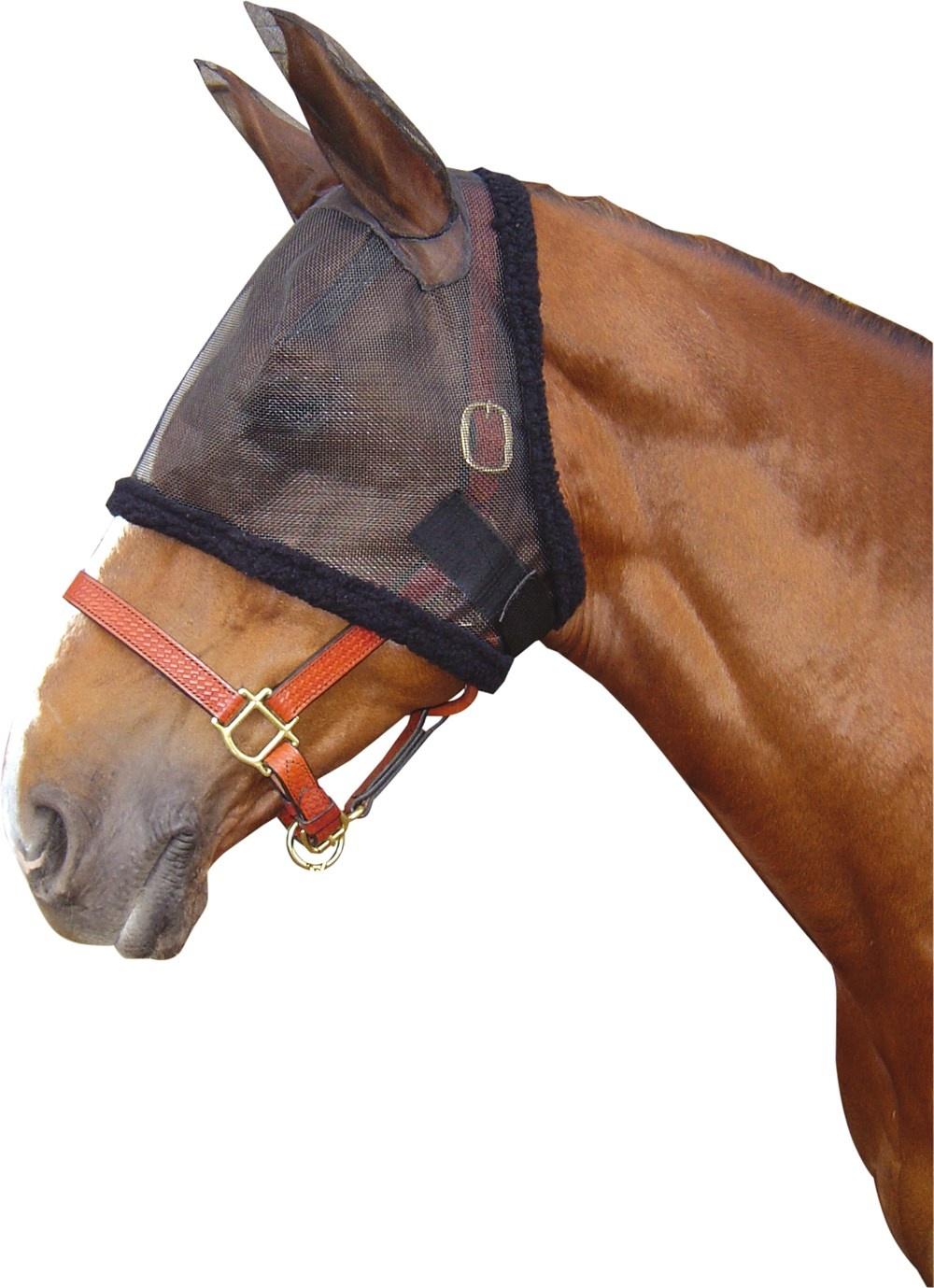 Fliegenmaskenhalfter Fliegenmaske Harrys Horse schwarz NEU