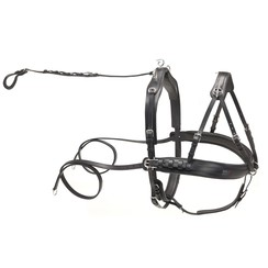 Kieffer black leather pair harness
