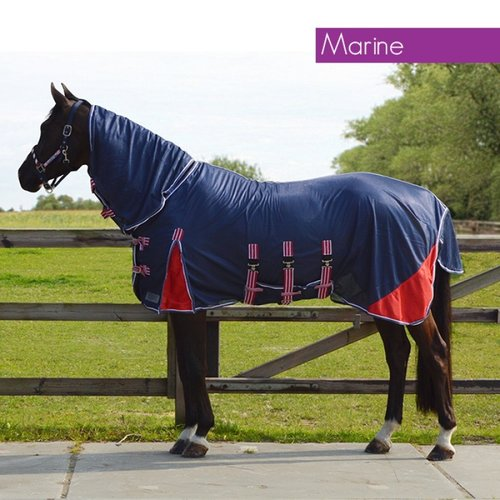 QHP QHP fly rug with neck elastic Marine