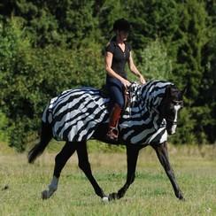 Bucas Buzz-Off Riding Zebra met halsdeel