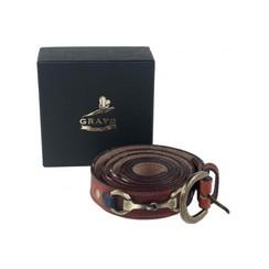 Grays Leather Belt Maple narrow