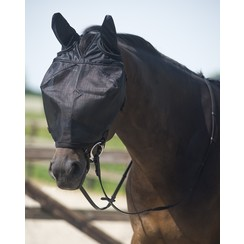 QHP Driving fly mask with black ears