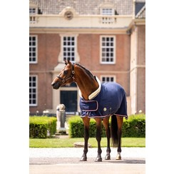 HB Polar fleece blanket Dutch Crowns 400 grams navy