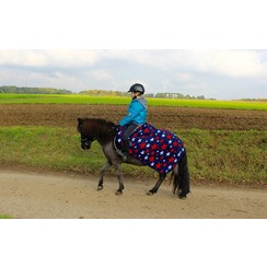 HB Pony Luxury fleece rug Harry and Hector Star Navy