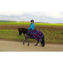 HB Pony Luxusfleecedecke Harry und Hector-Sterne-Navy