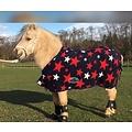 HB (handelsonderneming H. Bammens) HB Pony Luxusfleecedecke Harry und Hector-Sterne-Navy