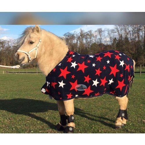 HB (handelsonderneming H. Bammens) HB Pony Luxe fleecedeken Harry and Hector Star Navy