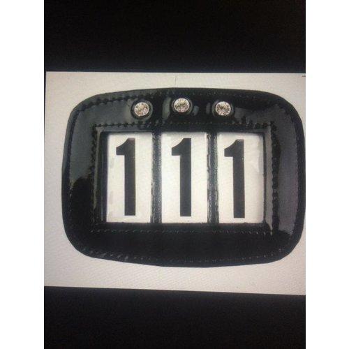 HB (handelsonderneming H. Bammens) HB Bridle numbers Showtime Black (lacquer)