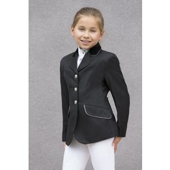 Equitheme Competition Jacket black with gray piping