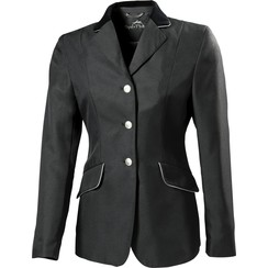 Equitheme Competition Jacke schwarz mit grauem Keder