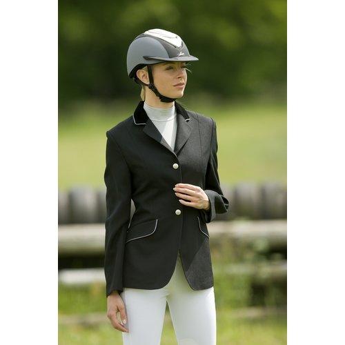 Equithème Equitheme Competition Jacke schwarz mit grauem Keder