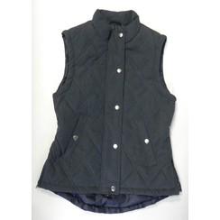 HKM Waistcoat dark blue with rijsplitjes