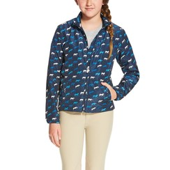 Ariat Laurel Multi Jacket navy horse print for youth