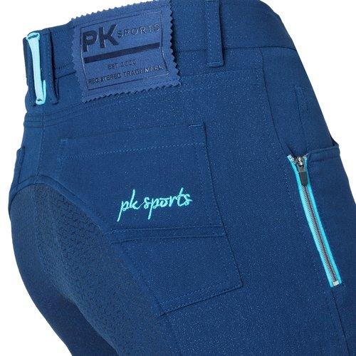 PK International Sportswear PK Rijbroek Woody Full Grip Oxford Blue