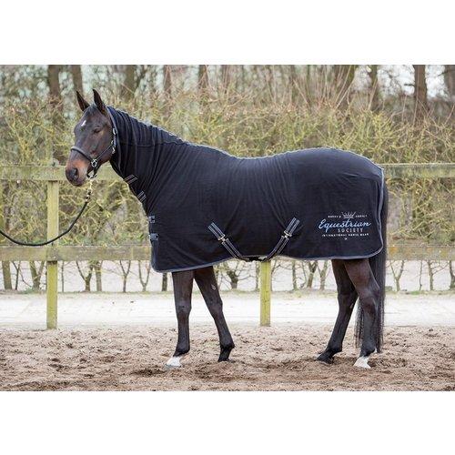 Harry's Horse Harry's Horse Fleecedeken met hals Jet Black