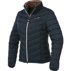 Equit'm padded ladies jacket navy / taupe
