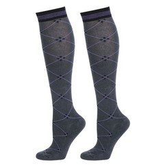 Harry's Horse Stockings Square ebony-ultraviolet