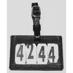 LD leather number holder