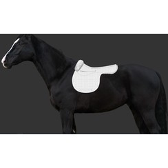 Mattes Saddle cloth with fur trim for