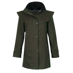 Jack Murphy ladies raincoat quarters L Cotswold Olive