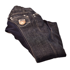 HKM jeans leather