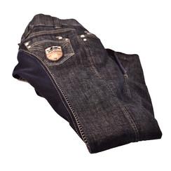 HKM jeans leer