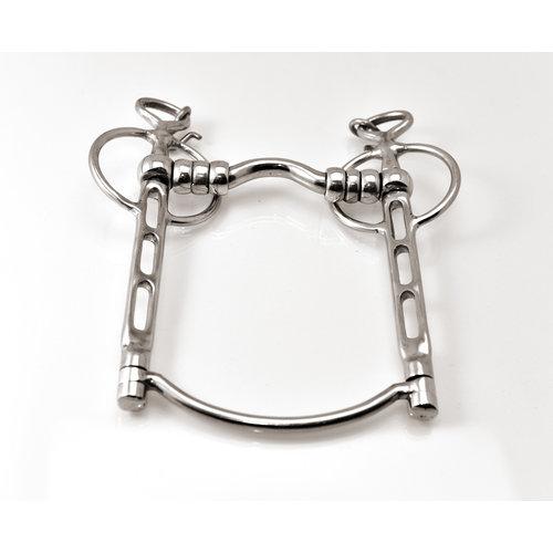 Letty's Design Kandare kleiner Zungenfreiheit mit Schaumbügel und Rollen