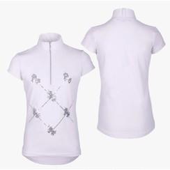 QHP Turniershirt Lana Junior Weiß