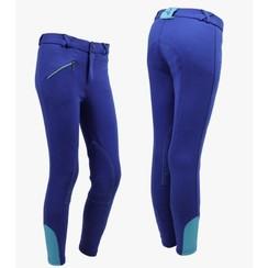 QHP breeches Junior Cobalt Blue