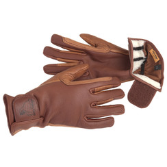 Driving gloves winter double lined