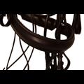 Kieffer Kieffer Stang en trens Hoofdstel rondgenaaid compleet met dubbele teugel