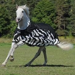 Bucas Buzz Off Rain Fliegendecke Zebra