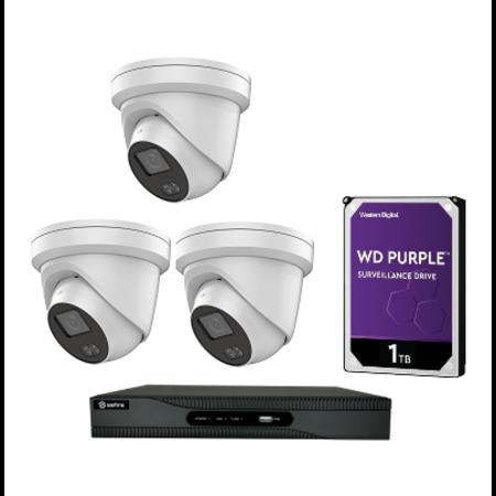 Safire / hikvision 3 Camera 4MP Night color set