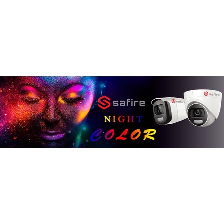 Safire / hikvision 5 Camera 4MP Night color set