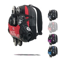 Urban Flow ice and inline skate gear bag for kids | Red