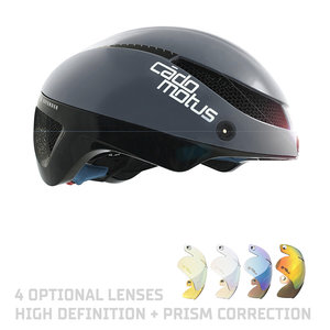 Cádomotus Omega Aero helmet for speedskating and cycling - Grey