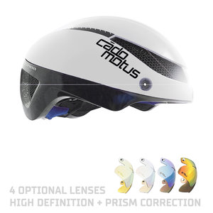Cádomotus Omega Aero helmet for speedskating and cycling - White