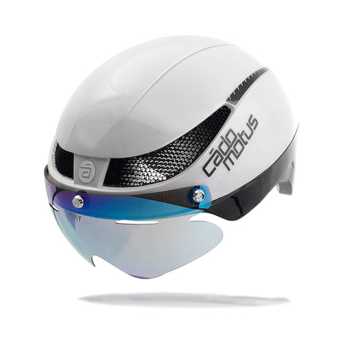 Cádomotus Omega Aero helmet for speedskating and cycling - White