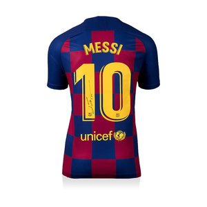 Lionel Messi signed Barcelona shirt 2019-20